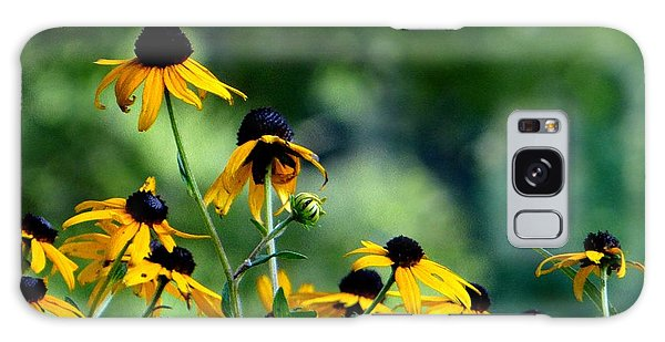 Yellow Petals Galaxy Case by Elizabeth Coats