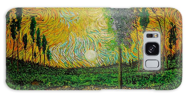 Yellow Pond Galaxy Case