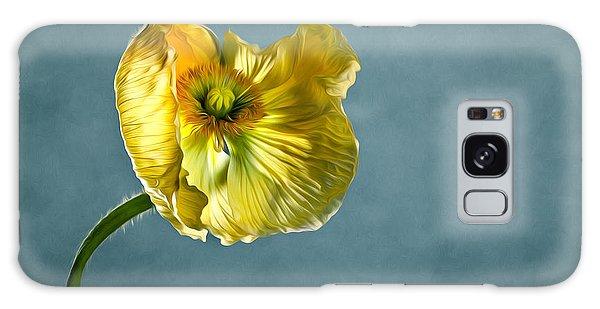 Pollen Galaxy Case - Yellow Poppy by Nailia Schwarz