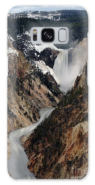 Galaxy Case featuring the photograph Yellowstone Falls by Dan Friend