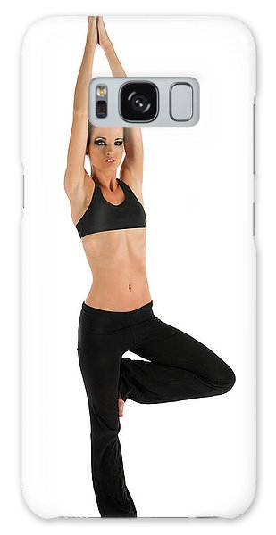 Yoga Pose Tree Galaxy Case