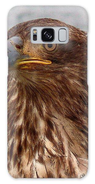 Young Bald Eagle Portrait Galaxy Case