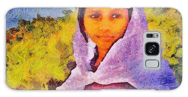 Young Moroccan Girl Galaxy Case