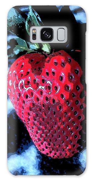 Zebra Strawberry Galaxy Case by Kym Backland