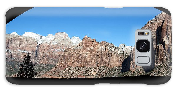 Zion Tunnel View Galaxy Case by Bob and Nancy Kendrick