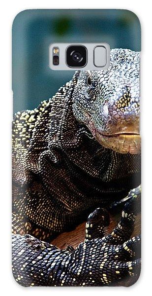 A Crocodile Monitor Portrait Galaxy Case by Lana Trussell