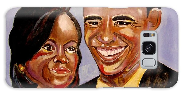 Barak And Michelle Obama   The Power Of Love Galaxy Case