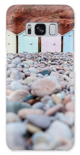 Beach Huts And Pebbles Galaxy Case