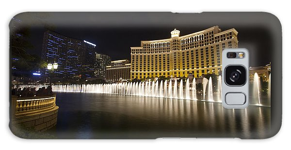 Bellagio Fountain In Las Vegas At Night Galaxy Case