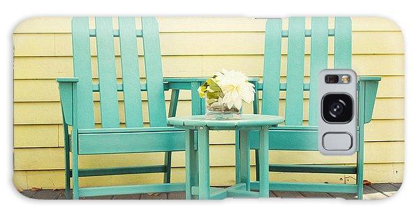 Adirondack Chair Galaxy Case -  Blue Adirondack Chairs  by Juli Scalzi