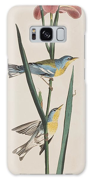 Blue Yellow-backed Warbler Galaxy Case by John James Audubon