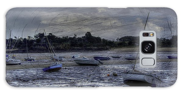Boats On The Beach In November Galaxy Case by Karo Evans