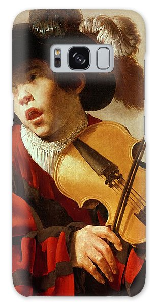 Violin Galaxy Case -  Boy Playing Stringed Instrument And Singing by Hendrick Ter Brugghen