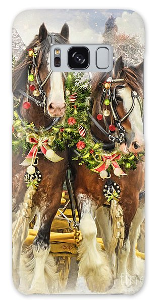 Christmas Clydesdales Galaxy Case