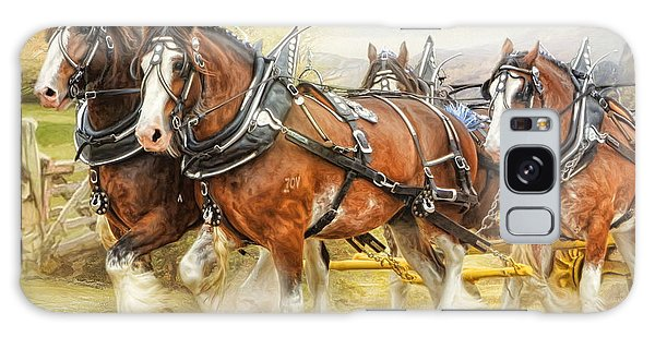 Clydesdales In Harness Galaxy Case