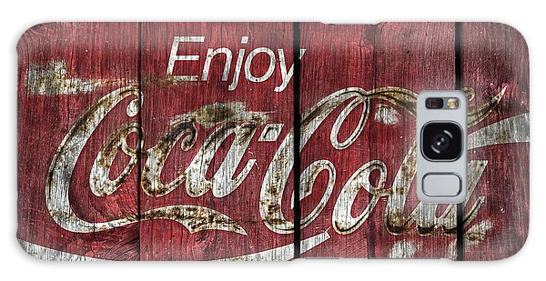 Coca Cola Sign Barn Wood Galaxy Case