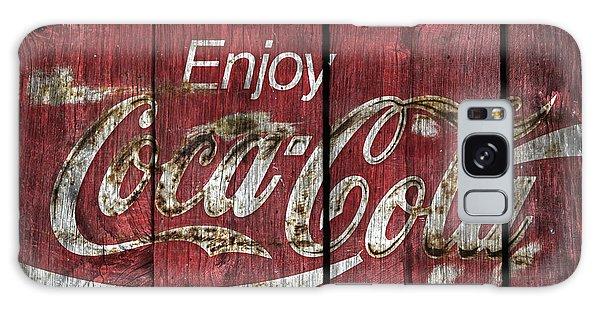 Coca Cola Sign Barn Wood Galaxy Case by John Stephens