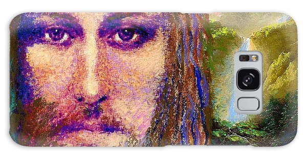 Calm Galaxy Case -  Contemporary Jesus Painting, Chalice Of Life by Jane Small