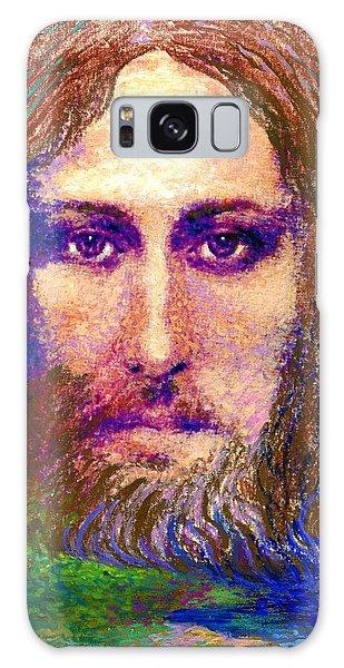 Savior Galaxy Case -  Contemporary Jesus Painting, Chalice Of Life by Jane Small