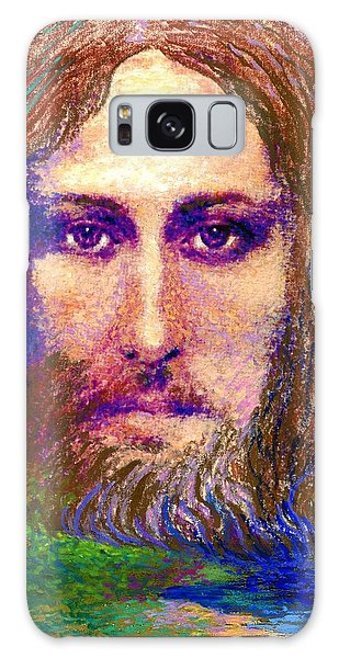 Contemporary Jesus Painting, Chalice Of Life Galaxy Case