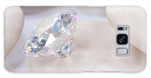 Diamond On White Stone Galaxy Case