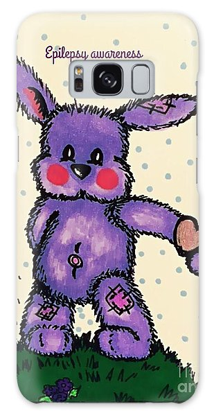 Epilepsy Awareness Bunny Galaxy Case by MaryLee Parker
