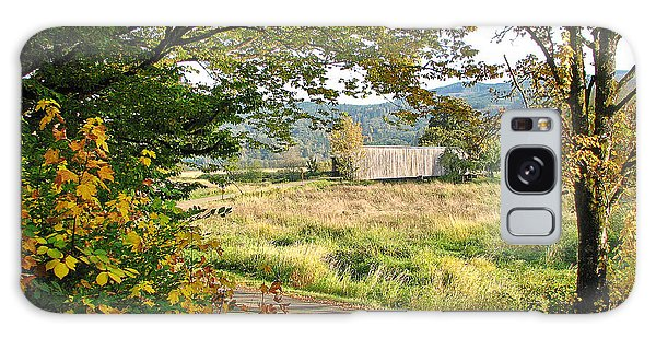 Fall At Grays River Covered Bridge Galaxy Case by Ansel Price