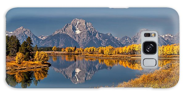 Fall Colors At Oxbow Bend In Grand Teton National Park Galaxy Case