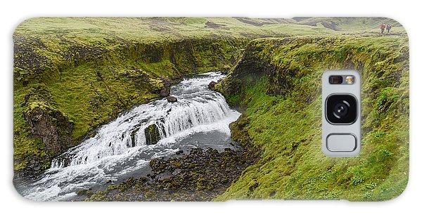 Fimmvorduhals Waterfall Galaxy Case