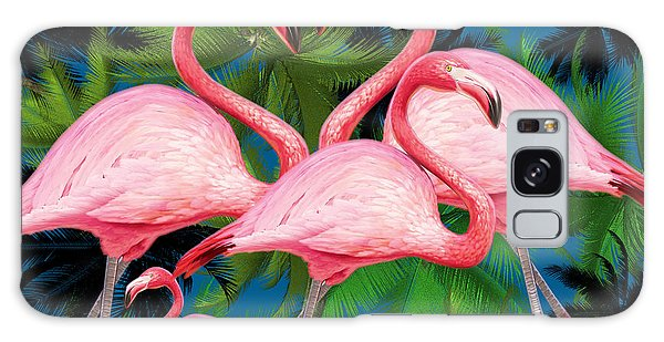 Flamingo Galaxy Case by Mark Ashkenazi