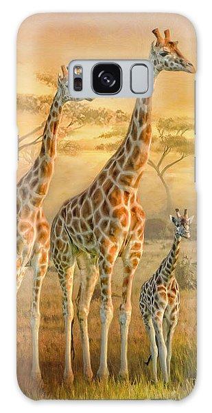 Giraffe Family Galaxy Case