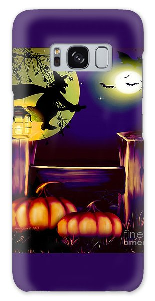 Halloween Witches Moon Bats And Pumpkins Galaxy Case
