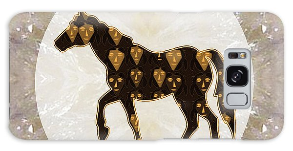 Horse Prancing Abstract Graphic Filled Cartoon Humor Faces Download Option For Personal Commercial  Galaxy Case
