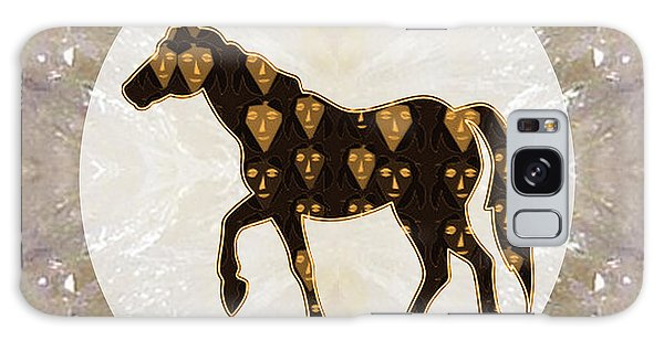 Horse Prancing Abstract Graphic Filled Cartoon Humor Faces Download Option For Personal Commercial  Galaxy Case by Navin Joshi