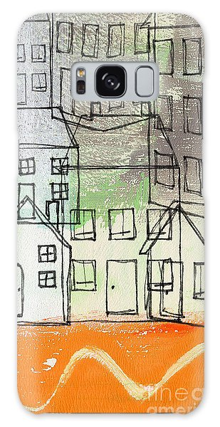 Abstract Landscape Galaxy Case -  Houses By The River by Linda Woods
