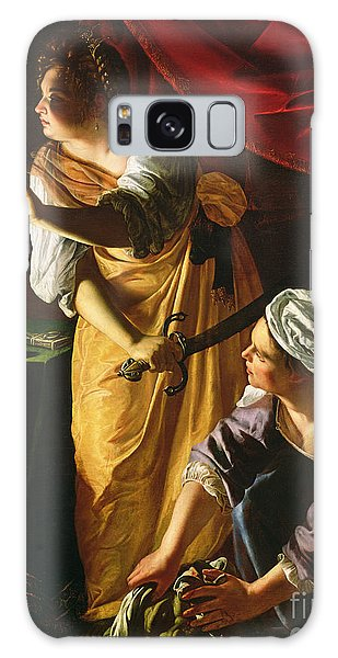 Woman Galaxy Case -  Judith And Maidservant With The Head Of Holofernes by Artemisia Gentileschi