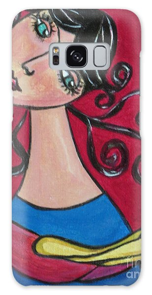 Lady And The Bird Galaxy Case by Joyce Gebauer