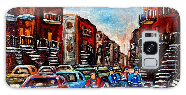 Late Afternoon Street Hockey Galaxy Case by Carole Spandau