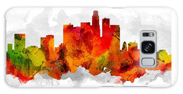 Los Angeles California Cityscape 15 Galaxy Case by Aged Pixel