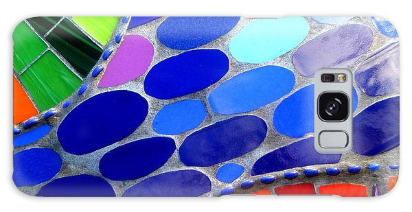 Mosaic Abstract Of The Blue Green Red Orange Stones Galaxy Case by Michael Hoard