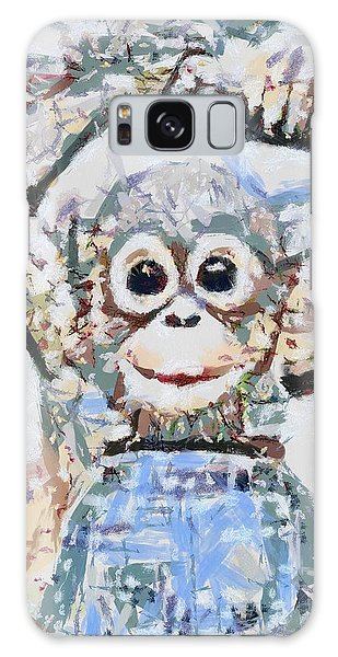 Monkey Rainbow Splattered Fragmented Blue Galaxy Case