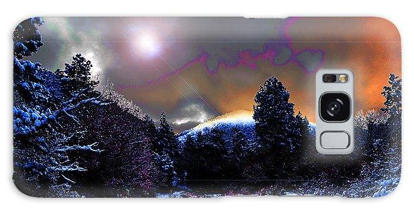 Moonrise On Kiva Mountain Galaxy Case by Susanne Still
