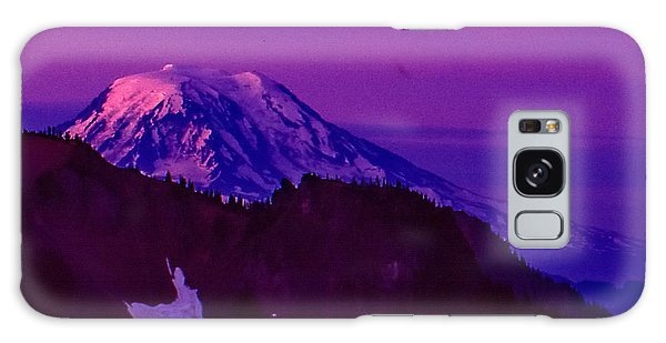 Mt. Rainier Sunrise Galaxy Case
