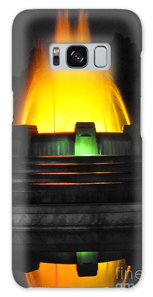 Clayton Galaxy Case -  Mulholland Fountain Reflection by Clayton Bruster