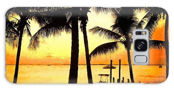 Palm Sunset On The Keys Galaxy Case