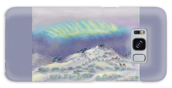 Peaceful Snowy Sunrise Galaxy Case
