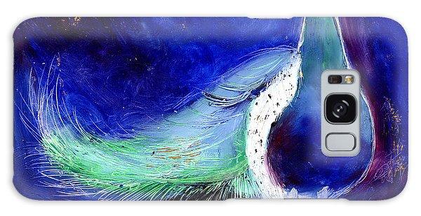 Feather Stars Galaxy Case -  Peacock Blue by Nancy Moniz
