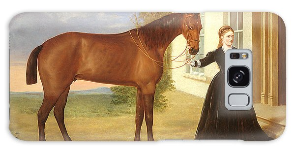 Portrait Of A Lady With Her Horse Galaxy Case