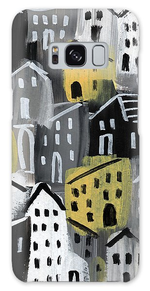 Town Galaxy Case -  Rainy Day - Expressionist Art by Linda Woods