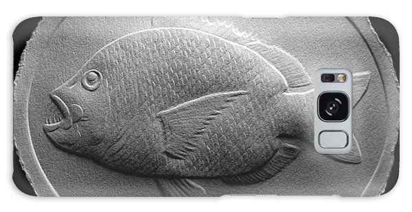Relief Saltwater Fish Drawing Galaxy Case